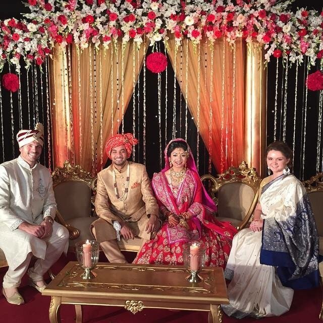 Bangladesh Bride and Groom with guests