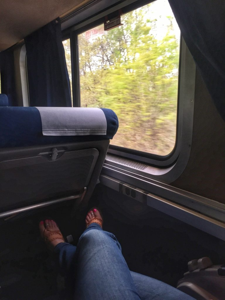 Coach seats on Amtrak Sunset Limited