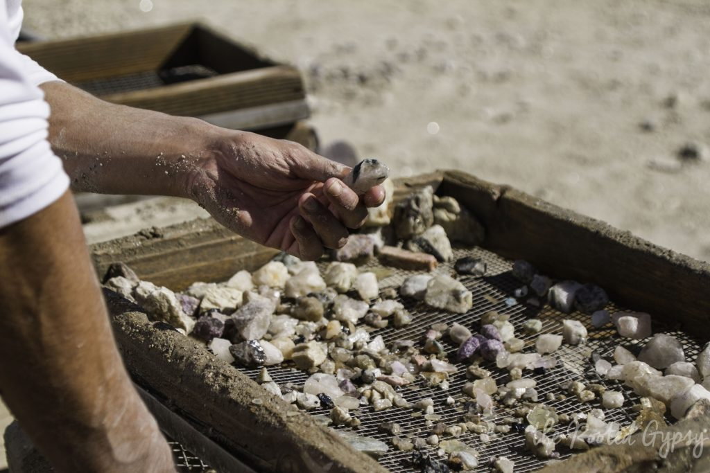Digging for gems at Oceanview Mine San Diego California