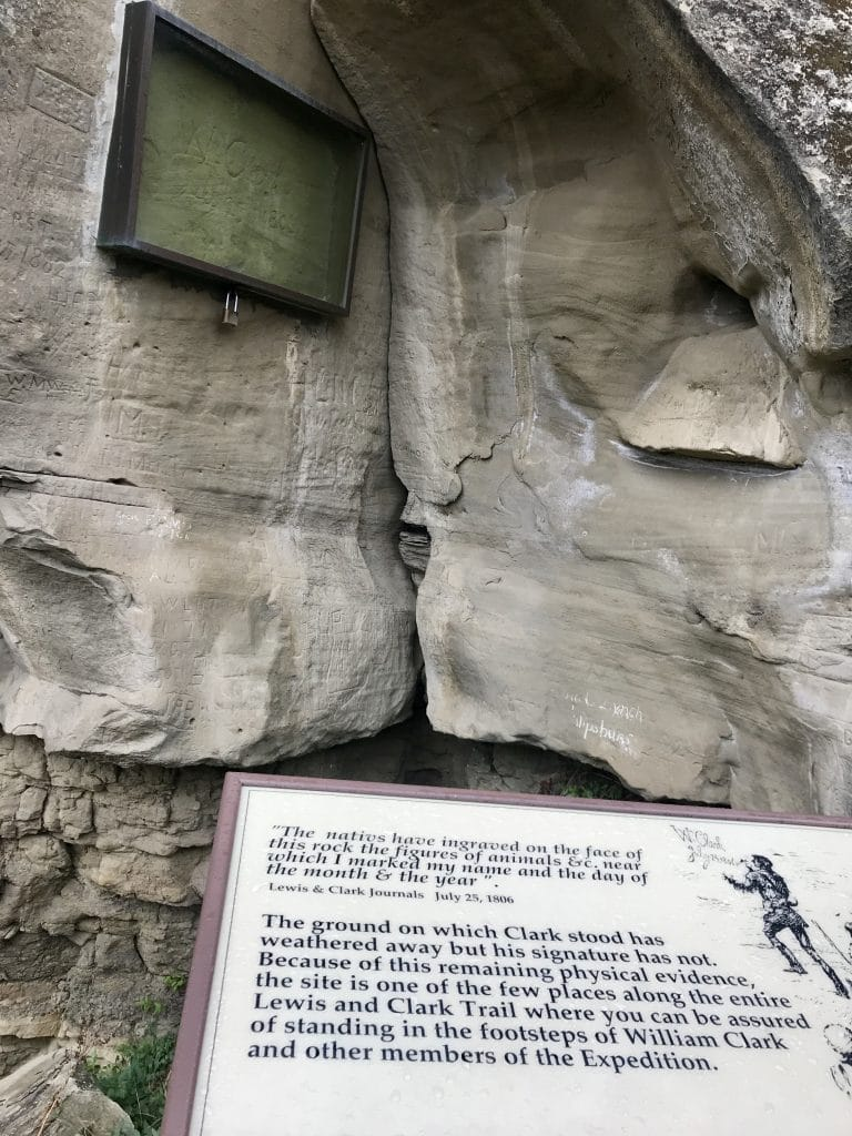 William Clark's Signature on Pompeys Pillar