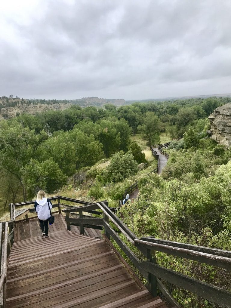 The trail to Pompeys Pillar